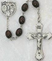 BROWN WOOD ROSARY. 139L-BR/F.