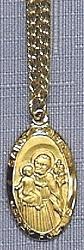 ST. JOSEPH, PATRON OF CARPENTERS MEDAL. MVN J550JS.