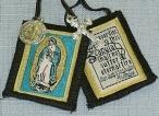 OUR LADY OF GUADALUPE BROWN SCAPULAR.