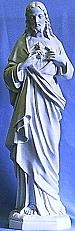 OUTDOOR STATUE OF THE SACRED HEART.  granite look finish 32 INCHES.