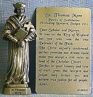 PEWTER STATUE: Saint Thomas More.