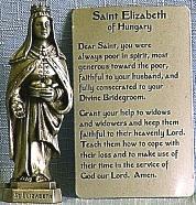 PEWTER STATUE: Saint Elizabeth. JC-3041-E.