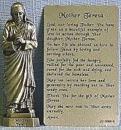 PEWTER STATUE: Mother Teresa. JC-3069-E.