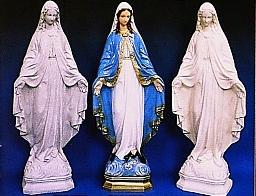 OUTDOOR STATUE OF OUR LADY OF GRACE, granite look finish.  24 INCHES.