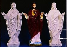 OUTDOOR STATUE OF THE SACRED HEART,  granite look finish 24 INCHES.