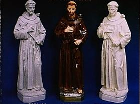 OUTDOOR STATUE OF SAINT FRANCIS.  granite look finish 24 INCHES.