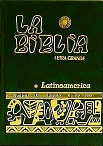 LA BIBLIA. Letra Grande.  Green