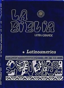 LA BIBLIA. Letra Grande.  Blue