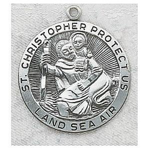 ST CHRISTOPHER MEDAL.  L420CH.
