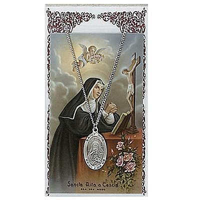 ST. RITA PRAYER CARD SET.  #PSD500RT.