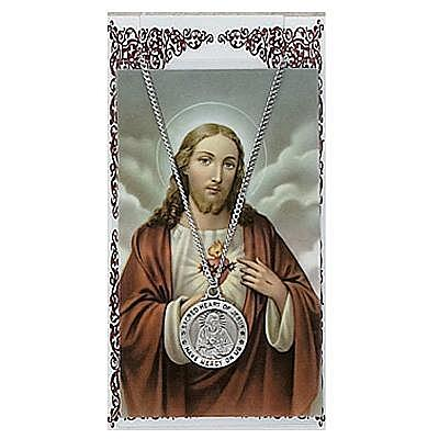 SACRED HEART PRAYER CARD SET.  #PSD600SC.