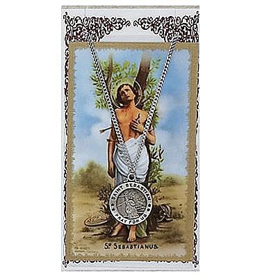 ST. SEBASTIAN PRAYER CARD SET.  #PSD600SB.