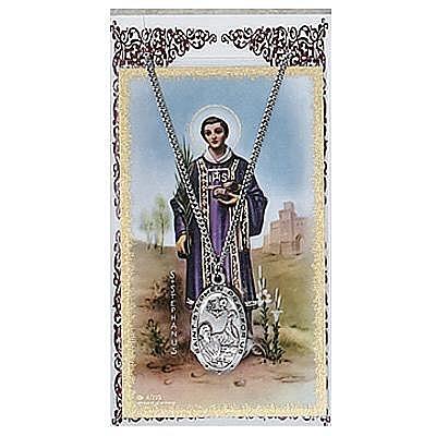ST. STEPHEN PRAYER CARD SET.  #PSD550SN.