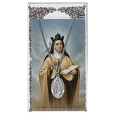 ST. TERESA OF AVILA PRAYER CARD SET.  #PSD500TH.