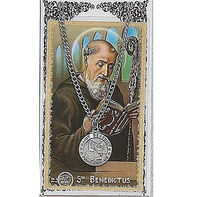 ST BENEDICT PRAYER CARD SET.  #PSD600BN.