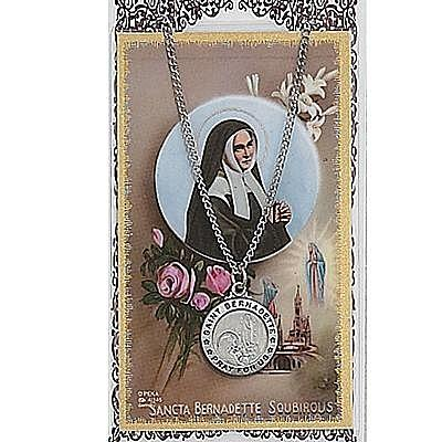 ST BERNADETTE PRAYER CARD SET.  #PSD600BD.