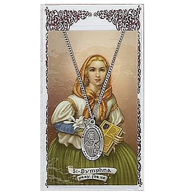 ST DYMPHNA PRAYER CARD SET.  #PSD500DY.