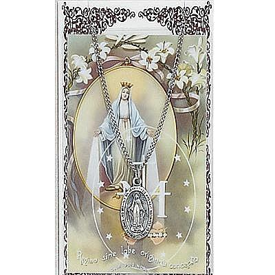 MIRACULOUS MEDAL PRAYER CARD SET.  #PSD500MI.