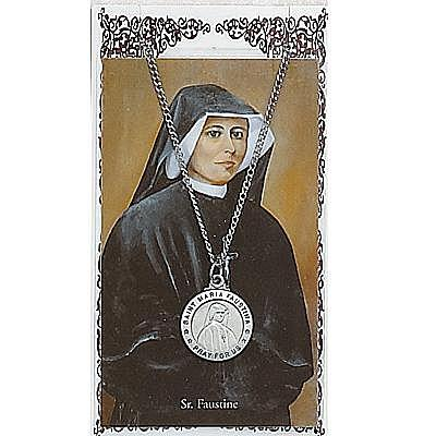 ST MARIA FAUSTINA PRAYER CARD SET.  #PSD600FA.
