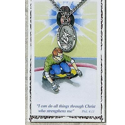BOYS SKATEBOARD PRAYER CARD SET.  #PSD565SKB.