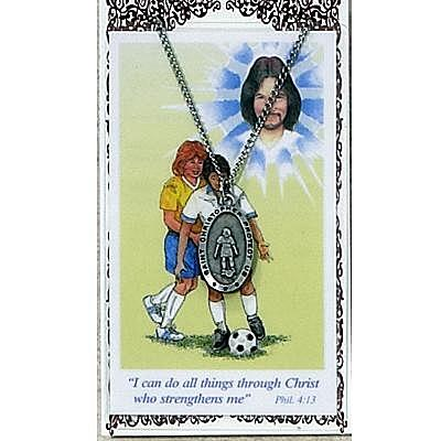 GIRLS SOCCER PRAYER CARD SET.  #PSD560SR.