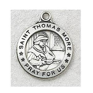 SAINT THOMAS MORE MEDAL.  L600TM.