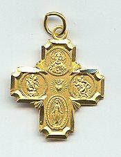 4-WAY CROSS MEDAL.  J398.