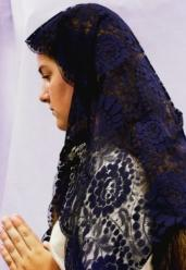 TRADITIONAL SPANISH MANTILLA #401 NAVY BLUE