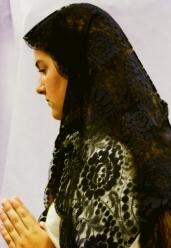 TRADITIONAL SPANISH MANTILLA #401 BLACK