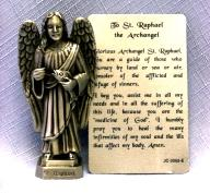 PEWTER STATUE: Saint Raphael the Archangel.  JC-3055-E.