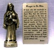 PEWTER STATUE: Saint Rita. JC-3050-E.