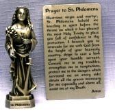 PEWTER STATUE: Saint Philomena. JC-3053-E.