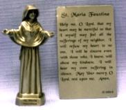 PEWTER STATUE: Saint Maria Faustina.  JC-3063-E.