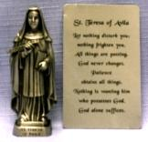 PEWTER STATUE: Saint Teresa of Avila. JC-3045-E.