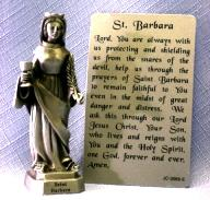 PEWTER STATUE: Saint Barbara. JC-3066-E.