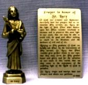 PEWTER STATUE: Saint Lucy. JC-3022-E.