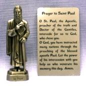 PEWTER STATUE: Saint Paul the Apostle. JC-3031-E.