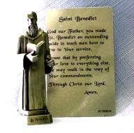 PEWTER STATUE: Saint Benedict. JC-3039-E.