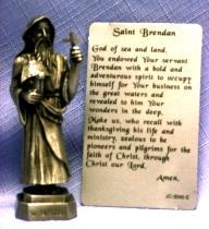 PEWTER STATUE: Saint Brendan.  JC-3040-E.