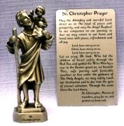 PEWTER STATUE: Saint Christopher.  JC-3007-E.