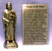 PEWTER STATUE: Saint Peter the Apostle.  JC-3030-E.