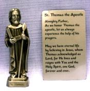 PEWTER STATUE: Saint Thomas the Apostle.  JC-3057-E.