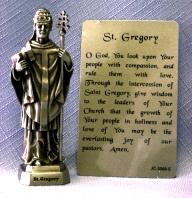 PEWTER STATUE: Saint Gregory.  JC-3068-E.