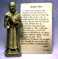 PEWTER STATUE: Padre Pio. JC-3042-E.