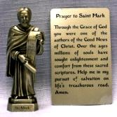 PEWTER STATUE: Saint Mark the Evangelist. JC-3034-E.