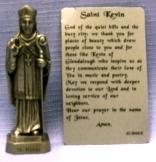 PEWTER STATUE: Saint Kevin. JC-3043-E.