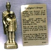PEWTER STATUE: Saint Florian (Patron of Firefighters).  JC-3019-E.