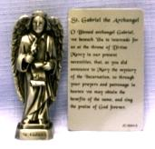 PEWTER STATUE: Saint Gabriel the Archangel. JC-3054-E.