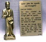 PEWTER STATUE: Saint John the Apostle and Evangelist.  JC-3024-E.