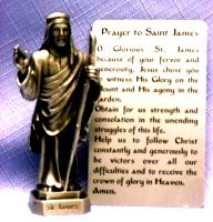 PEWTER STATUE: Saint James the Apostle.  JC-3032-E.